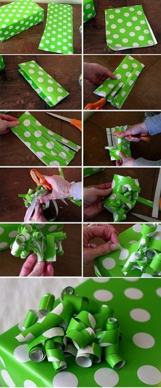10 DIY Gift Projects Top 10 DIY Gift Projects-wrapping paper bow awesome way to use the random/awkwardly shaped leftover piece of paper!Top 10 DIY Gift Projects-wrapping paper bow awesome way to use the random/awkwardly shaped leftover piece of paper! Craft Gifts, Diy Gifts, Holiday Fun, Holiday Crafts, Holiday Photos, Holiday Ideas, Wrapping Paper Bows, Wrapping Ideas, Wrapping Presents