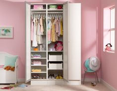 Storage solutions for a girls bedroom #pretty