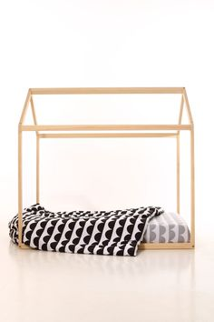 Baby Furniture – 90 x 200 WITH SLATS cm kids bed frame house wood – a unique product by meiddeco on DaWanda