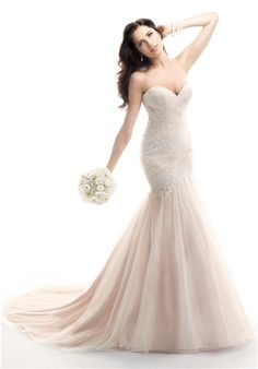 amazing pink wedding dress by maggie sottero
