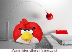 Der Super neue #Sitzsack #Angry #Birds. Heute haben wir für #Sie eine schöne #Dekoration des #Zimmers mit der #Gestalt aus dem #Märchen #Angry #Birds #Red #Birds. Sagen Sie uns ob dieser #Sitzsack hier passt.  www.furini-sitzsack.de