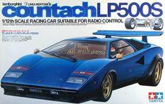 58005 Lamborghini Countach LP500S - Tamiya Box Art