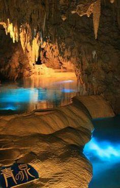 Mystic pools in Gyokusendo Cave, Okinawa, Japan