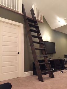 Loft Ladder Railing Stairs Attic Room