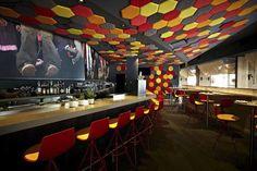 Jaleo Tapas Bar, Washington D.C, USA: wall panelling by SANCAL