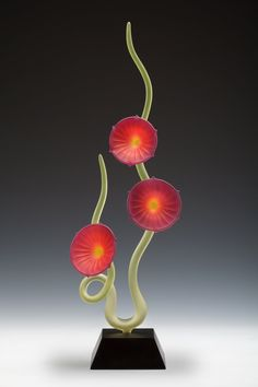 Dancing Flowers: Warner Whitfield: Art Glass Sculpture | Artful Home