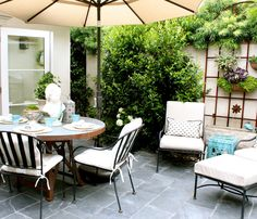 outdoor space at home of Mary Ann Pickett