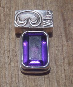 Emerald Cut Amethyst Pendant; Limited edition, only on @Etsy #saintjohn #pendant #emeraldcut #usvi