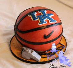 University of Kentucky basketball cake by Happy As A Lark Cake Creations
