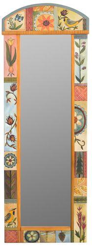 Rounded Wall Mount Wardrobe Mirror