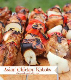 Asian Chicken Kabobs Marinade Recipe