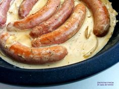 Cocinax2. Las recetas de Laurita.: Salchichas frescas en salsa de tomillo