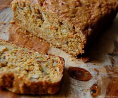 Brown Sugar Carrot Bread with Almonds #recipes