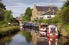 Footpaths head west into the country, you can hire bikes and follow the towpath into Edinb...
