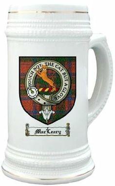 Macleary clan macintosh Clan Crest / Clan Badge 22 oz. Stein Mug