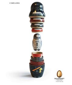 Star Wars Matryoshka Dolls... Sweet! I think I'm inspired to make a Star Wars edition of the game Goblet now!