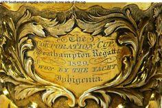 Trophy yacht club silver 1829