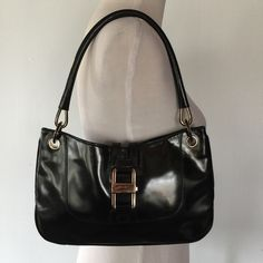"""AUTHENTIC GUCCI SPAZZOLATO MINI HANDLE BAG Features gold tone hardware, a single rolled leather handle. 8"""" drop, and a foldover push lock closure. Lined in beige jacquard textile fabric with single side zipper pocket. Signs of normal wear and tear. Serial number: 001-4150 2296 Gucci Bags Shoulder Bags"""