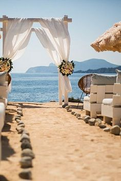 Experimental Beach Ibiza, beach wedding venue - www.ibiza-weddings-spain.com/experimental-beach-ibiza/