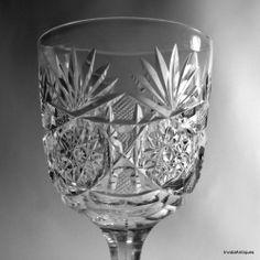 Dorflinger ABP American Brilliant Cut Glass Water Goblets Wine Glass No. 50