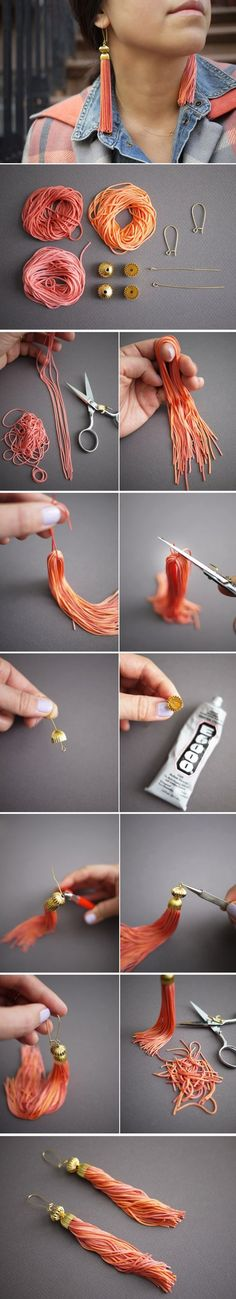 Step-by-step guide on how to make tassel earrings