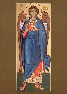 Архангел Гавриил Gabriel, Roman Church, Religious Paintings, Religious Icons, Catholic Art, Art Icon, Orthodox Icons, Angel Art, Christian Art