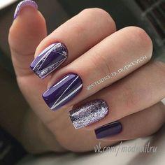 маникюр , дизайн ногтей Disegni Per Unghie Viola, Disegni In Gel Per Unghie,  Disegni