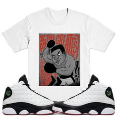 878af7cb2654c8 ALI ART Sneaker Tees Shirts - Jordan 13 He Got Game