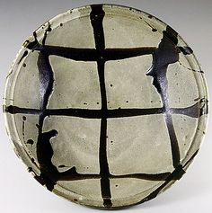 Large plate by National Living Treasure of Japan, Shoji HAMADA (1894~1978)