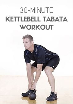 A kettlebell, like many other fitness gadgets, can be used for exercises that target every muscle of the body. Combining a handful of those exercises in one session can lead to a challenging full-body workout. 30-Minute Kettlebell Tabata Workout
