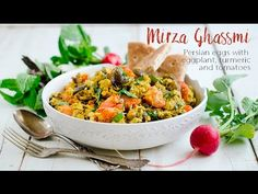 Mirza Ghassemi | Persian Eggs with Eggplant, Turmeric, and Tomatoes {Video} - Family Spice