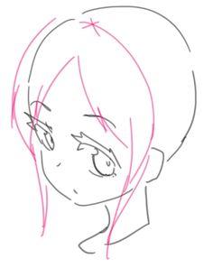New hair tutorial anime art ideas Drawing Hair Tutorial, Manga Drawing Tutorials, Art Tutorials, Drawing Sketches, Drawings, Pelo Anime, Anime Poses Reference, Digital Art Tutorial, Drawing Base
