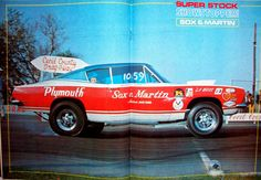 "photos of sox & martin drag cars | ... Sox & Martin 68 Plymouth Barracuda ""Cuda"", from Super Stock and Drag"