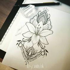 Search inspiration for an Ornamental tattoo. Boho Tattoos, Arm Tattoos, Cute Tattoos, Flower Tattoos, Sleeve Tattoos, Tatoos, Mendala Tattoo, Back Tattoo, Mandala Tattoo Design