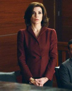 The Good Wife Season 5 Outfits, Explained by Costume Designer Daniel Lawson - SEASON 5, EPISODE 9: GUCCI BLAZER AND ESCADA SKIRT from #InStyle