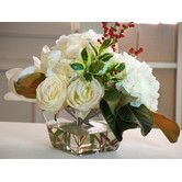 Found it at Wayfair - Holiday Mixed Centerpiece in Flared Glass Vase