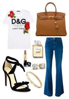 """""""Casual Day..."""" by keiramariexo on Polyvore featuring Dolce&Gabbana, STELLA McCARTNEY, Alexandre Birman, Hermès, Cartier and Chanel"""