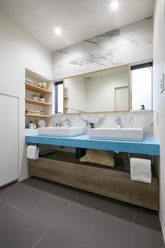 キッチンハウス 洗面台 No.113-002507 Powder Room, Double Vanity, Bathroom Lighting, Bathtub, Mirror, Furniture, Home Decor, Bathroom Light Fittings, Standing Bath