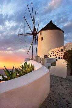 Windmill in Oia - Santorini, Greece