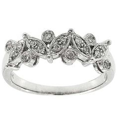 0.20 Cttw Round Brilliant Cut Diamonds Unique Design Cocktail Ring in 14K White gold by GetDiamondsDirect on Etsy