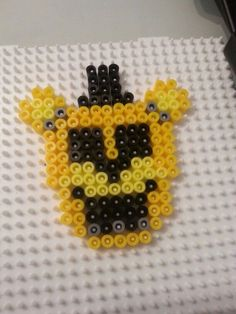 Golden Freddy perler bead by PsychoticMutt