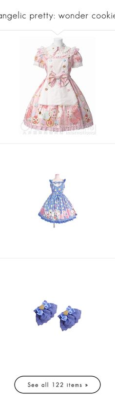 """""""angelic pretty: wonder cookie"""" by scoutvenus ❤ liked on Polyvore featuring dresses, lolita, women, pink dress, angelic pretty, wonder cookie, jsk, gloves, cuffs and wrist cuffs"""