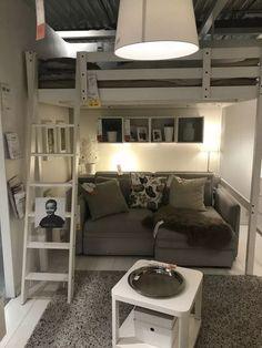 admirable dorm room to create space saving storage ideas 13 - Kids room - Loft Room, Bedroom Loft, Bedroom Decor, Bedroom Ideas, Men Bedroom, Loft Bed Ikea, Loft Bed Dorm, Ikea Boys Bedroom, Small Room Design