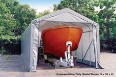 ShelterLogic 14x28x12 Peak Style Shelter in Gray * You can find out more details at the link of the image.