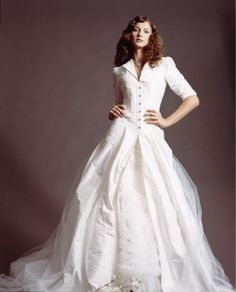 1940's house-gown inspired wedding dress - £4700