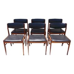 Image of Danish Mid-Century Rosewood Side Chairs - Set of 6