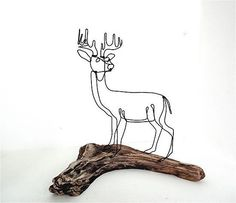 Buck Wire Sculpture by Bud Bullivant Wire ~ 10.5 inches x 10.5 inches