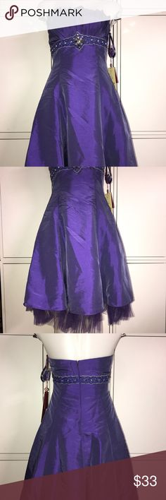 Mayqueen Couture Dress Pretty Beaded strapless dress with all tags and spare repair parts. Also comes with matching shawl also Beaded. Perfect for homecoming/winter ball. May Queen Dresses Prom