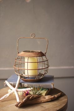 Antiqued-iron-hanging-captains-lantern At Seasideinspired.com Beach Ocean Home Decor