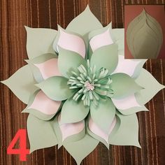 How to make a flat giant paper flower how to make paper flowers paper flower template digital pdf 4 mightylinksfo
